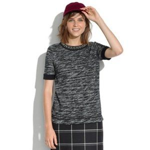 Madewell | Sparkle Trim Short Sleeve top